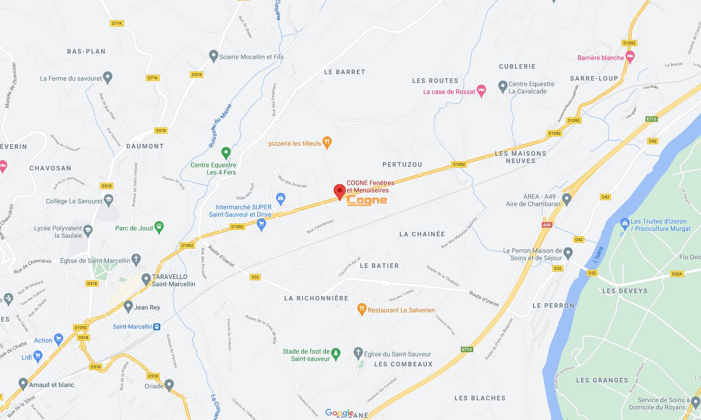 Map Cogne St Marcellin