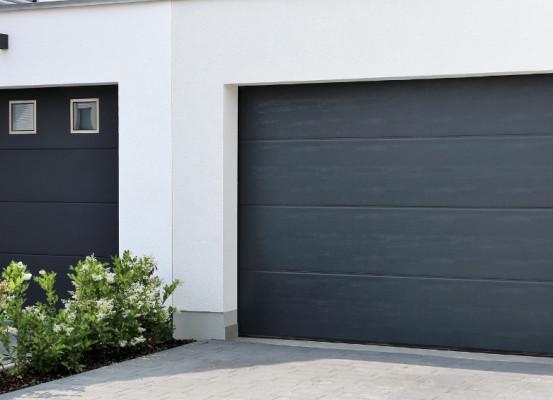 COGNE - porte de garage motorisé anthracite – porte garage automatisée