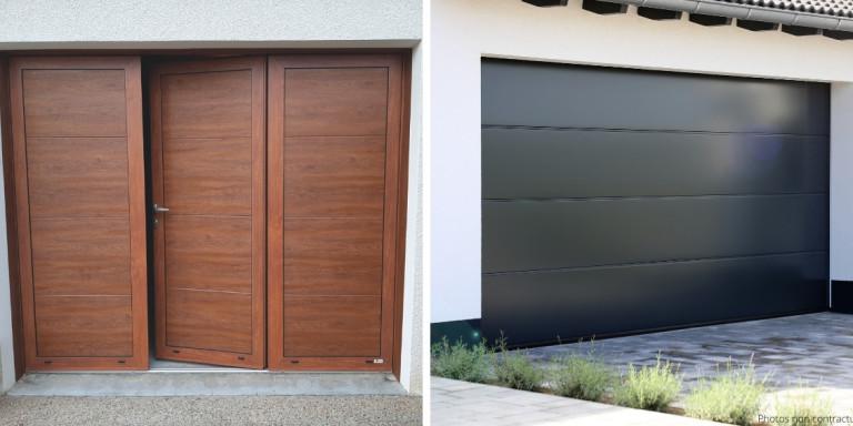 COGNE - porte de garage motorisé effet bois – porte garage automatisée
